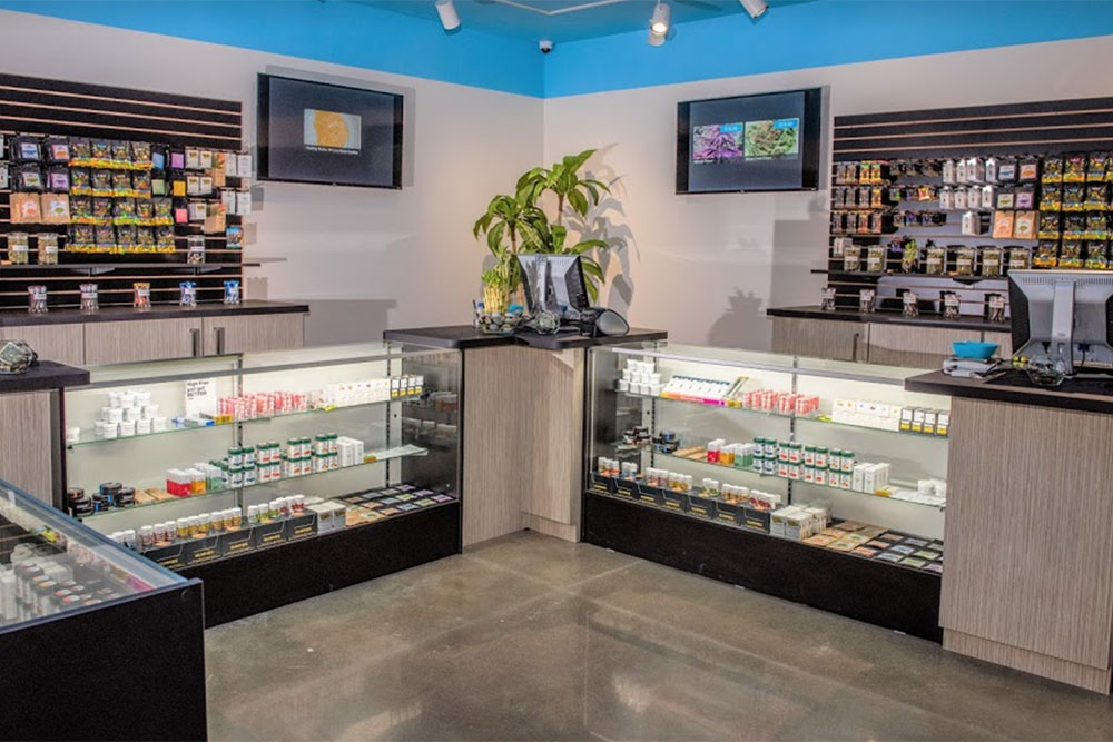From The Earth Cannabis Dispensary in Hanover, Michigan counters, store